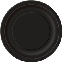 "Large Black Plates - 9"" Paper Plates (16pcs)"
